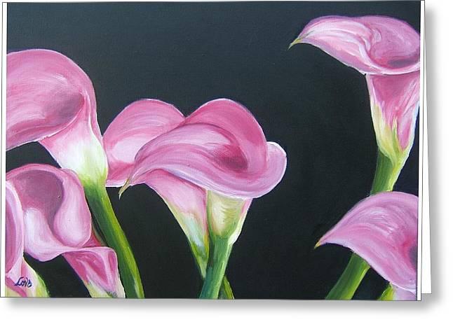 Pink Calla Lily's Greeting Card