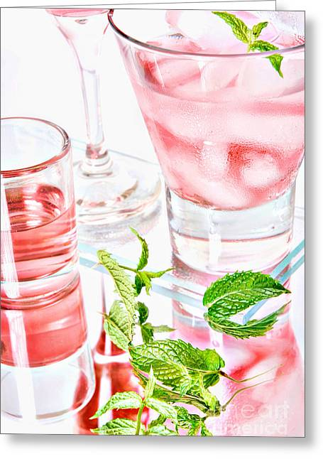 Pink Cocktails Greeting Card