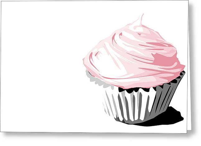 Pink Cupcake Greeting Card by Jay Reed