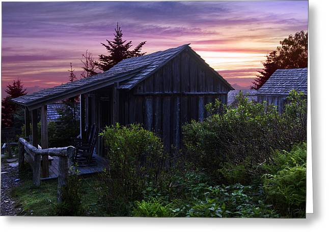 Pink Dawn Greeting Card by Debra and Dave Vanderlaan