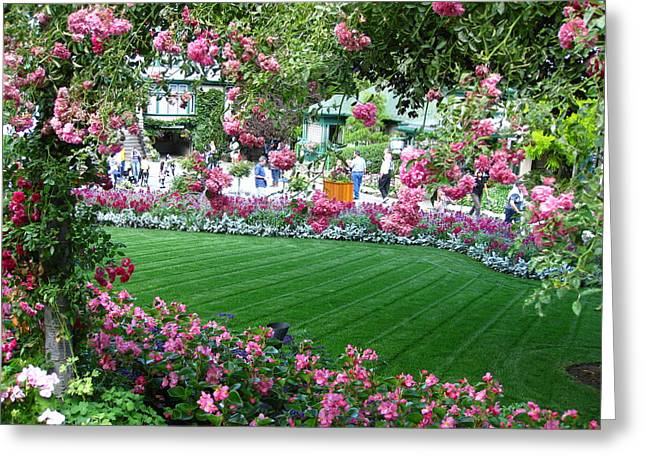 Pink Garden Greeting Card