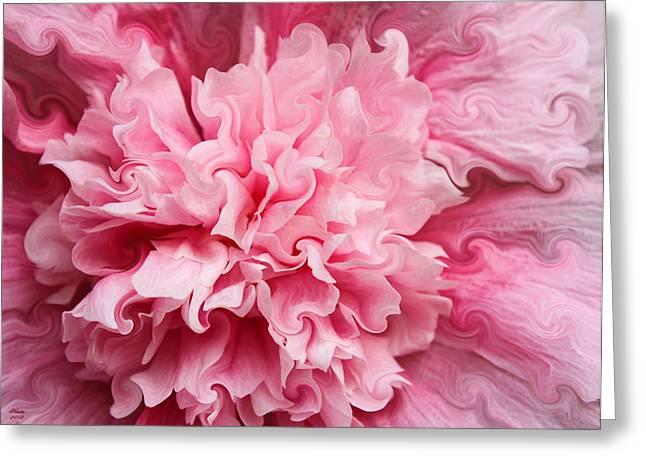 Pink Greeting Card by Kristin Elmquist