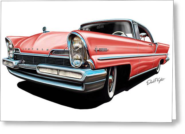 Pink Lincoln Premier  Greeting Card by David Kyte