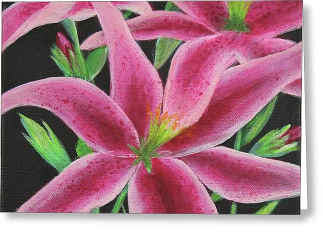 Greeting Card featuring the painting Pink Paradise by Kristi Roberts