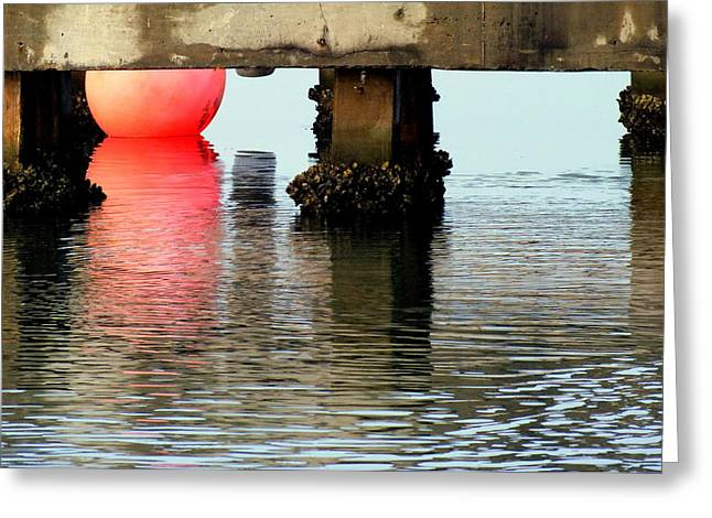 Pink Pearl Pilings Greeting Card by Karen Wiles