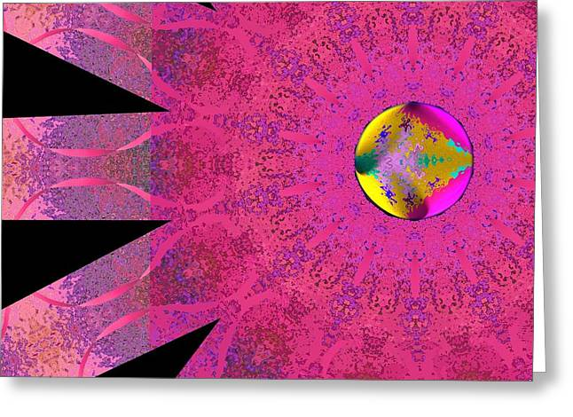 Greeting Card featuring the digital art Pink Ribbon Of Hope by Alec Drake