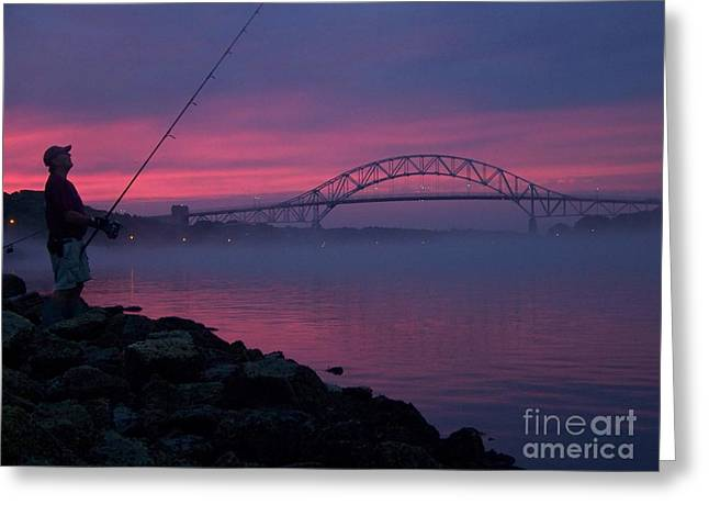 Pink Skies In The Morn Greeting Card by John Doble