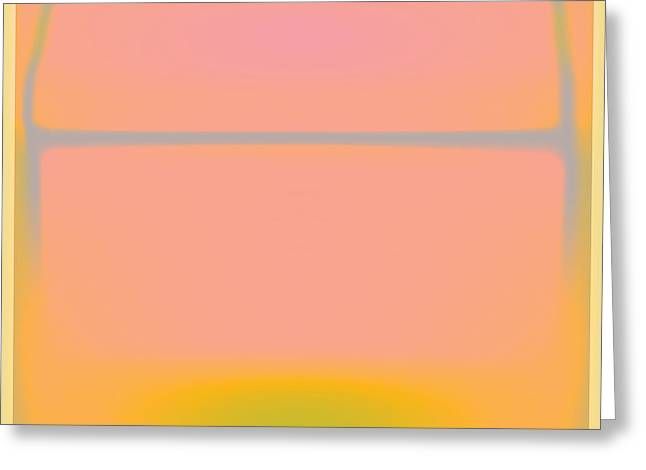 Pink Yellow And Grey Greeting Card by Gary Grayson