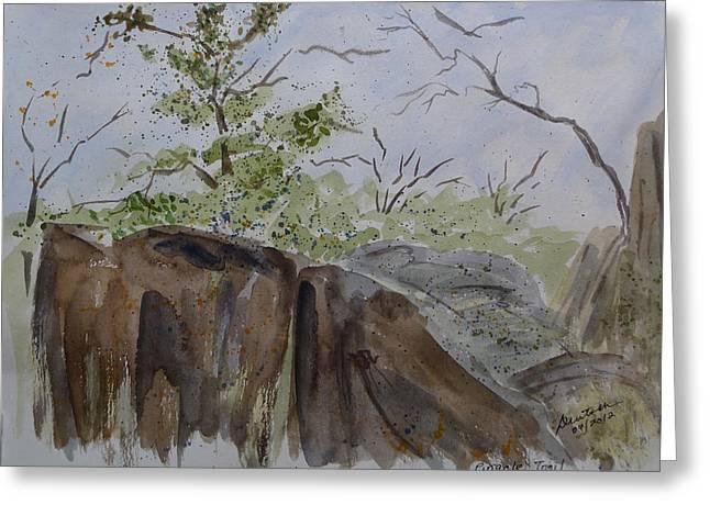 Pinnacle Trail - Sketch Greeting Card by Joel Deutsch