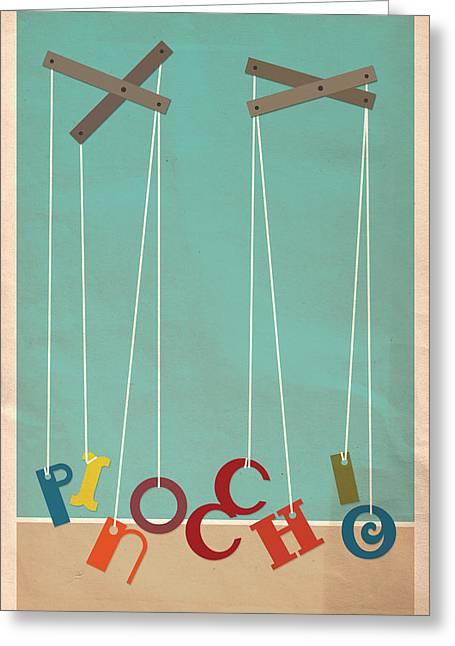 Pinocchio Greeting Card by Megan Romo