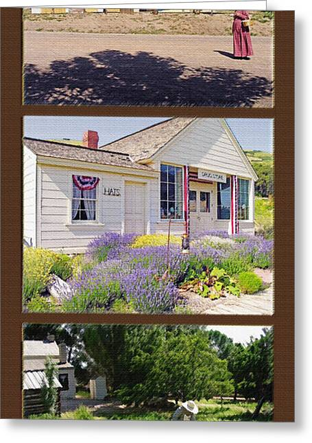Pioneer Series Triptych Greeting Card by Steve Ohlsen