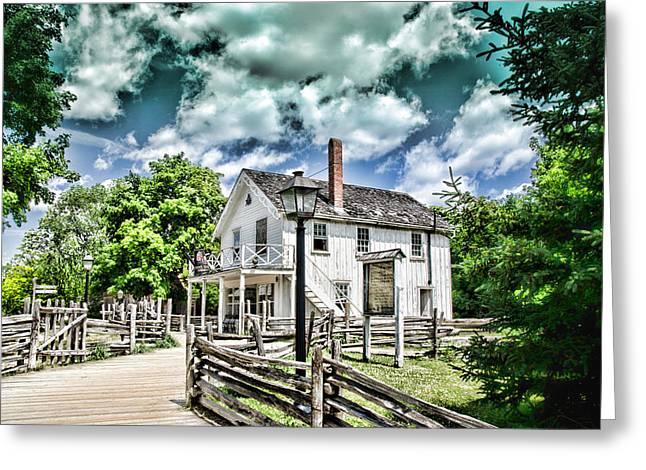 Pioneer Village Greeting Card by Jana Smith