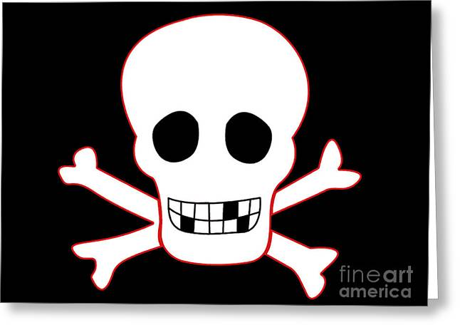 Pirate Flag Greeting Card by Steev Stamford