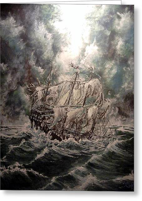 Pirate Islands 2 Greeting Card by Robert Tarrant