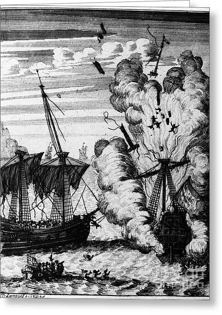 Pirate Ships Greeting Card by Granger