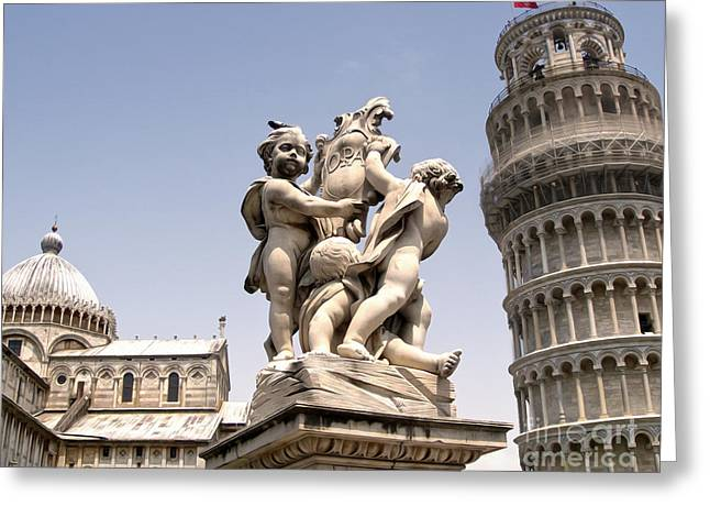 Pisa Italy - Piazza Dei Miracoli - 02 Greeting Card by Gregory Dyer