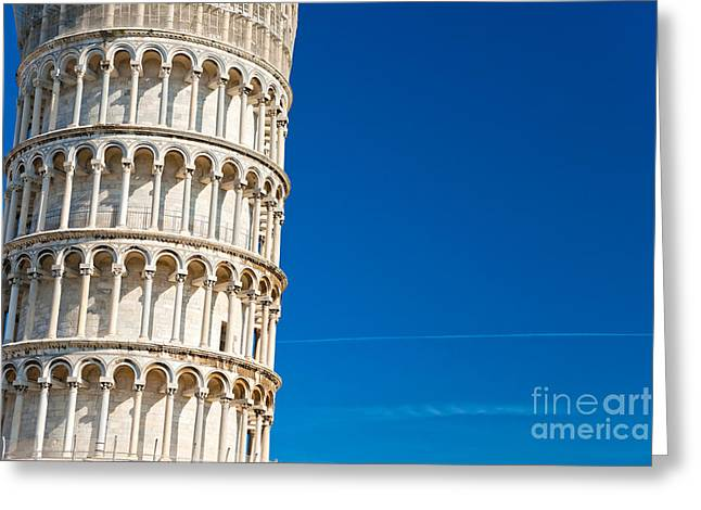 Greeting Card featuring the photograph Pisa Leaning Tower by Luciano Mortula