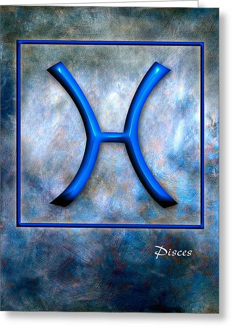 Pisces  Greeting Card by Mauro Celotti