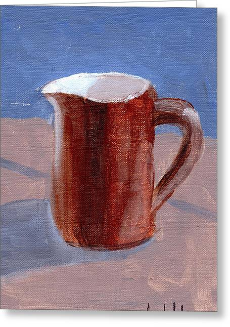 Greeting Card featuring the painting Pitcher by Lou Belcher