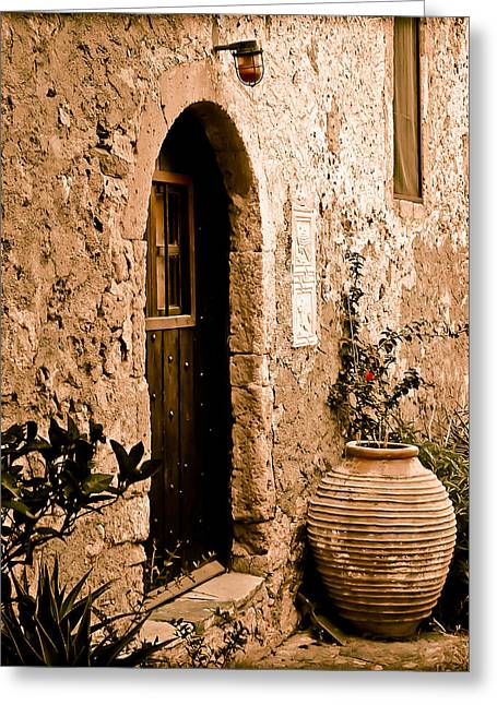 Monemvasia, Greece - Pithos Greeting Card