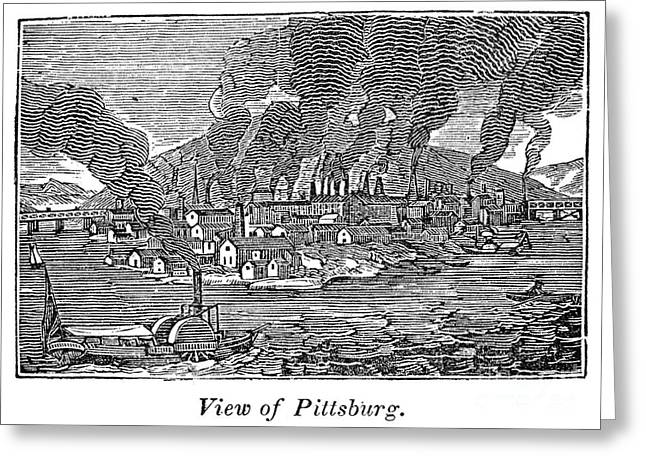 Pittsburgh, 1836 Greeting Card by Granger