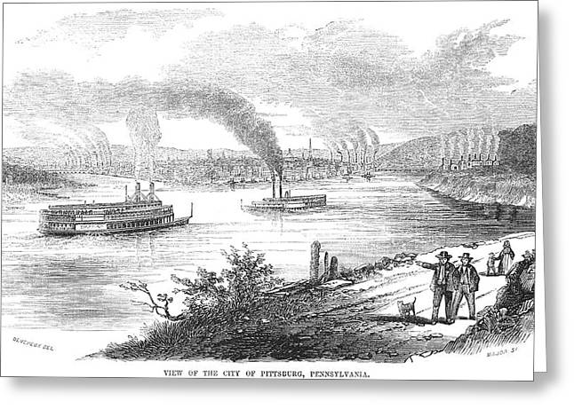 Pittsburgh, 1853 Greeting Card by Granger