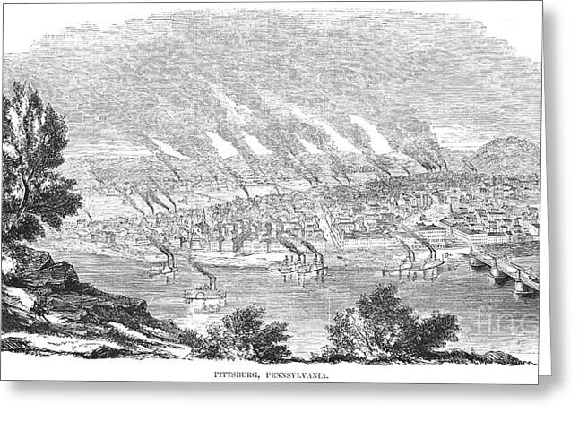 Pittsburgh, 1855 Greeting Card by Granger