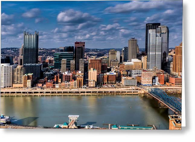 Pittsburgh Greeting Card by David Hahn