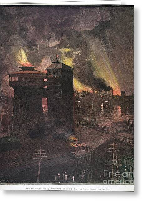 Pittsburgh: Furnaces, 1885 Greeting Card by Granger