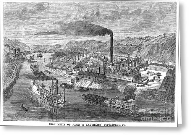 Pittsburgh: Iron Mills Greeting Card