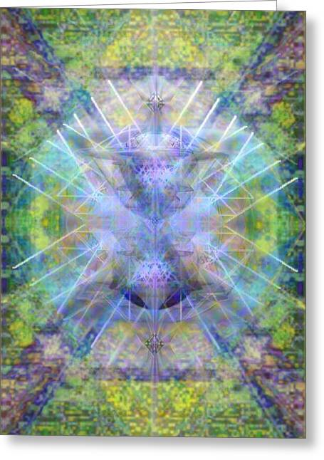 Pivortexspheres In Chalicell Garden Of Light Greeting Card by Christopher Pringer