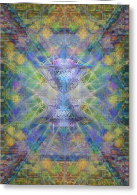 Pivortexspheres On Chalicell Garden Tapestry Ivb Greeting Card