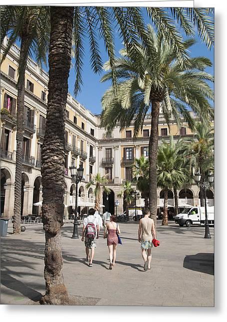 Placa Reial Barcelona Spain Greeting Card by Matthias Hauser