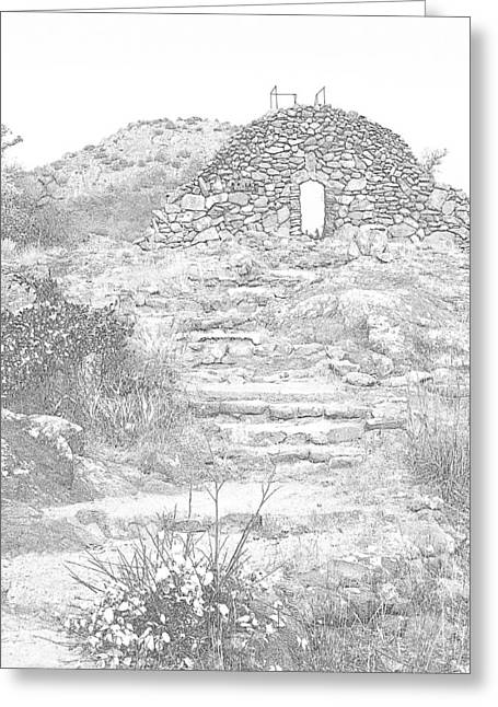 Place Of The Tomb Greeting Card by Mickey Harkins