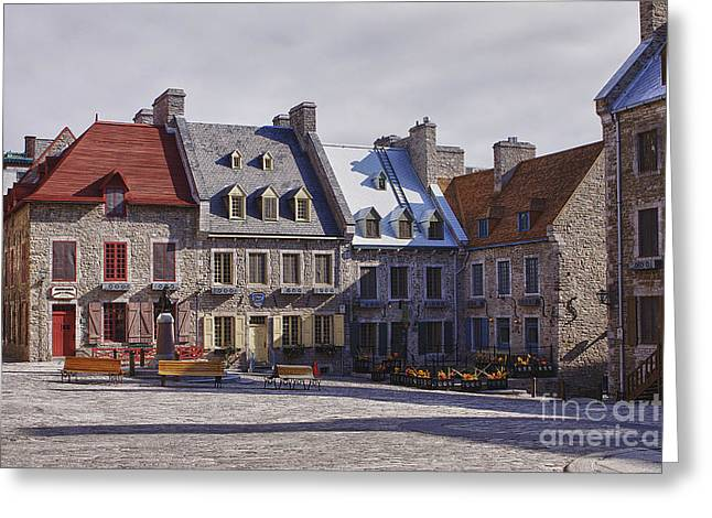 Greeting Card featuring the photograph Place Royale by Eunice Gibb