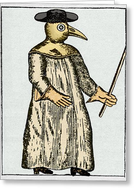 Plague Doctor, France, 18th Century Greeting Card