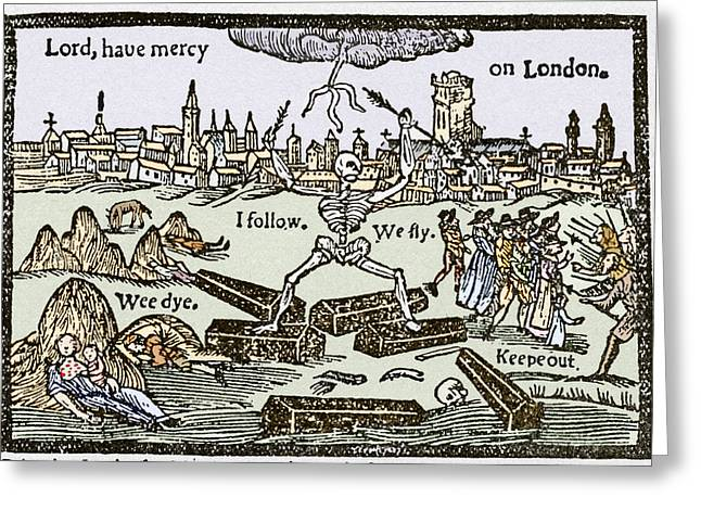 Plague In London, 1625 Greeting Card by Sheila Terry