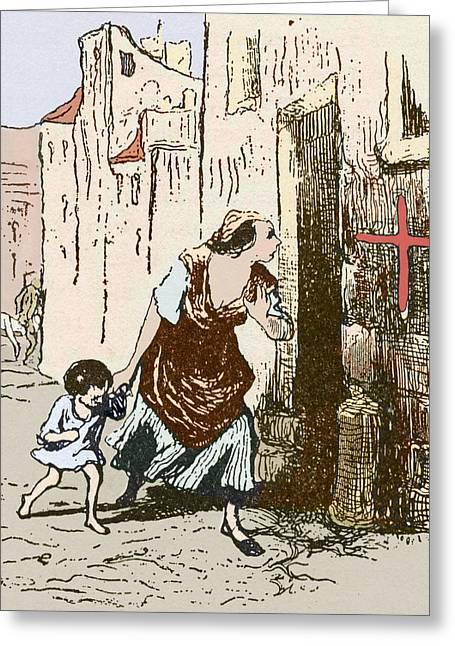 Plague Quarantine, England, 16th Century Greeting Card
