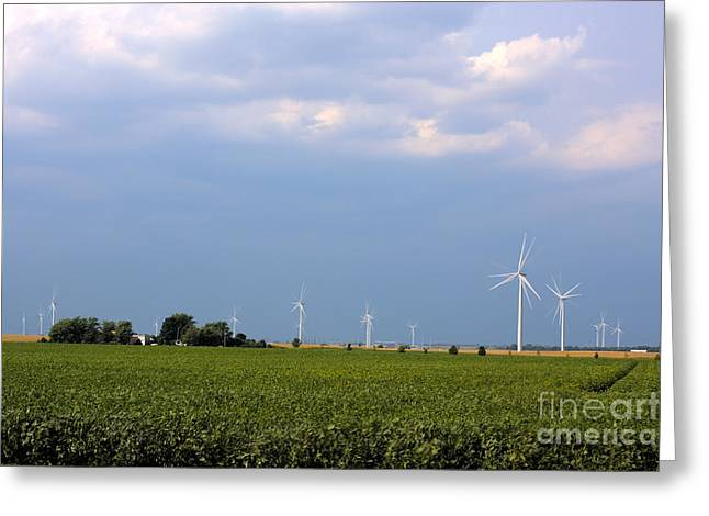 Plains Wind Farm Greeting Card by Alan Look