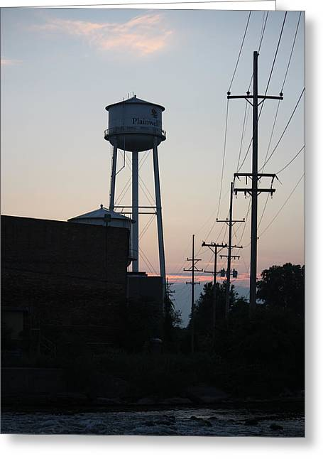 Greeting Card featuring the photograph Plainwell Paper Mill II by Penny Hunt