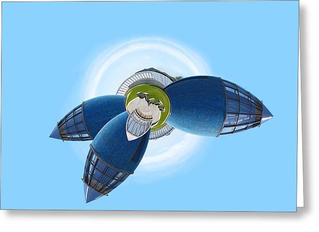 Planet Bonn Greeting Card by Design Windmill