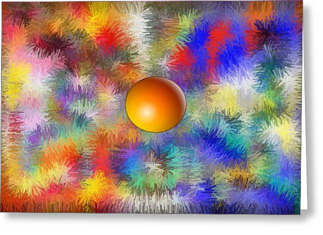 Planet Stand Out Greeting Card by Alec Drake