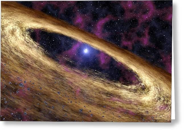 Planetary Disc Around A Pulsar, Artwork Greeting Card by Jpl-caltechnasa