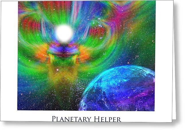 Planetary Helper Greeting Card by Jeff Haworth