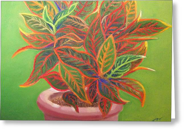 Greeting Card featuring the pastel Plant Portrait II by Diane Ferguson