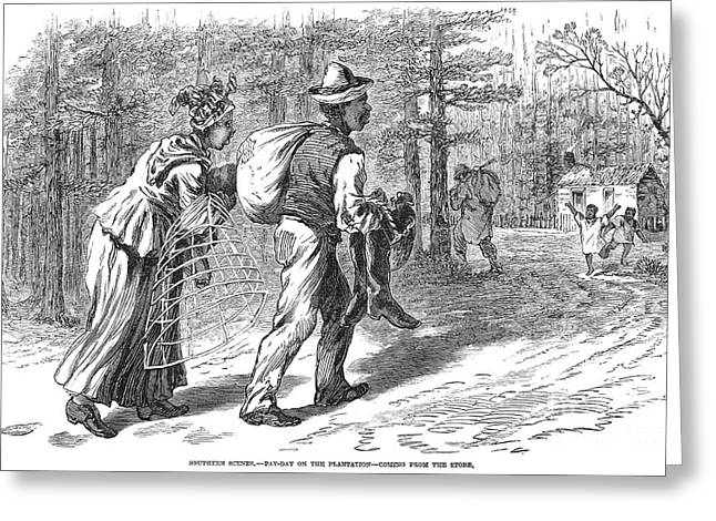Plantation: Pay Day, 1869 Greeting Card by Granger