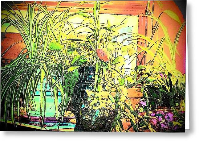 Greeting Card featuring the mixed media Plants by YoMamaBird Rhonda