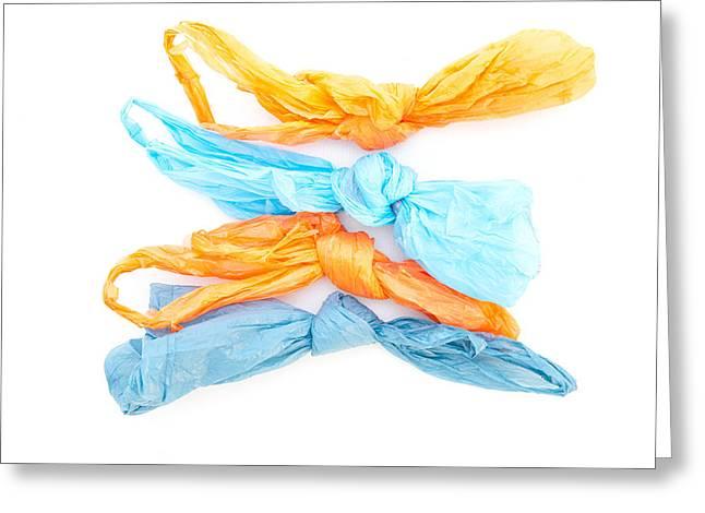 Plastic Bags Greeting Card by Tom Gowanlock