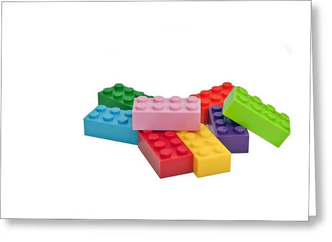 Plastic Toys. Building Blocks. Greeting Card
