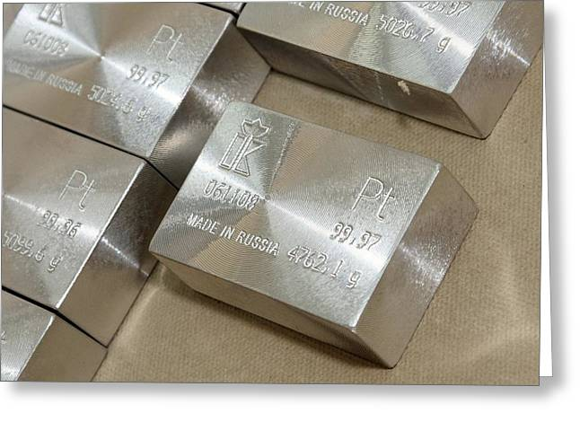Platinum Bars Greeting Card by Ria Novosti